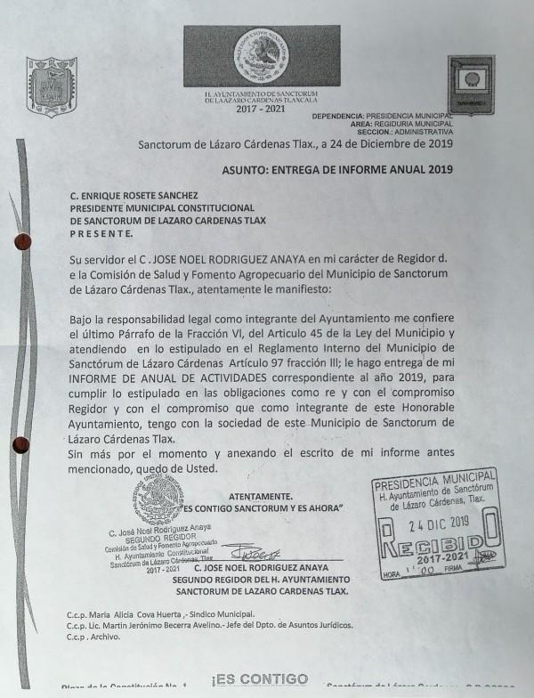 ENTREGA DE INFORME 2do REGIDOR